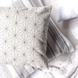 Scandinavian Modern Geometric Linen Throw Pillow